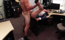 Milf strokes cock and fucked for cash