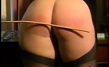Blonde Woman Being Spanked By The Boss