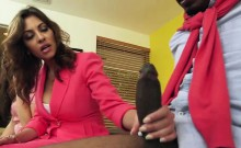 Slutty stepmom deny black cock for teen