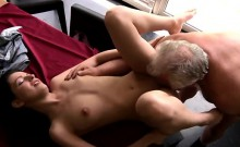 Old and young amateurs movies Cathy seems amazed with his so
