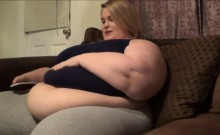 BBW Showing Off Her Large Belly