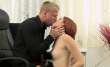 Amarna Miller seducing her boss with a BJ