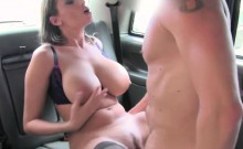 Hottie Euro slut blasts inside the cab