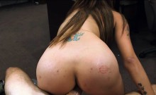 Busty latina pawns her muff and fucked by nasty pawn guy