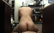 Pretty babe sells her shoes and ripped at the pawnshop