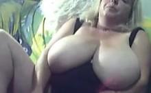 Busty Blonde BBW Masturbates
