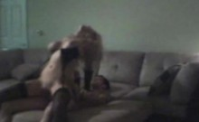 Cheating Blonde Riding Dick Caught On Hidden Camera