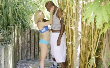 Sexy Blonde Cheats with Her BBC Trainer