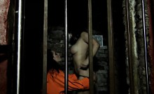 Foxy babes have lesbian fun in prison