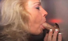 Mature blonde Janine takes on anonymous cock