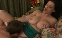 Big natural boobs gets her fuck hole intensively penetrated
