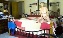 Sexy mature blonde wants to try bouncing on a younger pisto