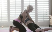 Beautiful babes Rose and Niki get extremely hot after yoga