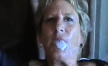 Grandmother having black and bright gangbang