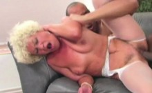 Blonde Granny Takes On A Big Cock