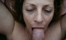 Adult blonde milf provides blowjob to some large penis toge