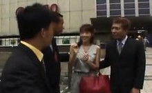 Attractive Japanese milf gets picked up and banged rough by