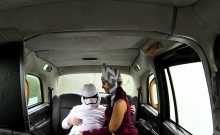 Hot star wars fan have sex in the taxi