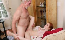 Redhead Teen Dolly Little Rides Old Mans Cock