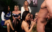 Spunk faced cfnm mistress