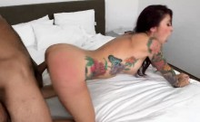 Inked Up MILF With Big Boobs Gets Boned
