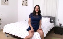 Threesome fucked babe loves the taste of cum