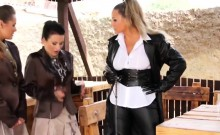 Strict Mistress Punishes Her Bitches
