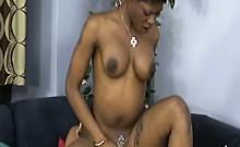 Slutty babes enjoying a sexy foursome with big rods