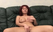 Redhead Mature Receives Cock Of Amputee On Couch