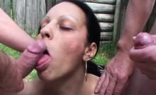 Euro MILF shows off her cocksucking skills