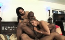 Hot Foursome Session With Two Ebony Sweethearts