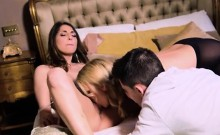 Hung Stud Gets Shared By Hot Stepmom And GF