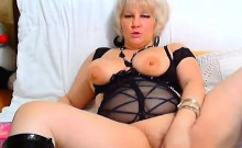 Sensual Blonde Milf Masturbating On Webcam