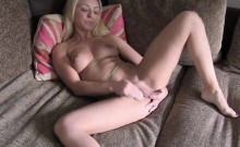 Blonde banged from behind at interview