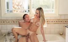 Big tits MILF Brandi Love banged by two big cocks at home