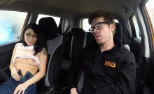 Driving instructor fucks petite asian cutie