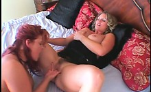 Bbw Lesbos Fuck Twats With Dildo And Fingers