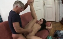Plunging His Old Wiener Inside Her Ass