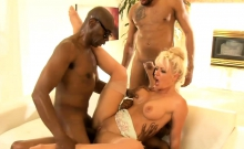Big Tits Lady Holly Heart Dp By Black Men On The Couch