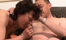 45 - Horny German Mature Sucks And Rides