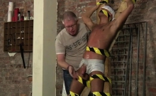 Gay Bondage Video Young Slave Boy Made To Squirt