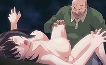 Anime babe gets double drilled