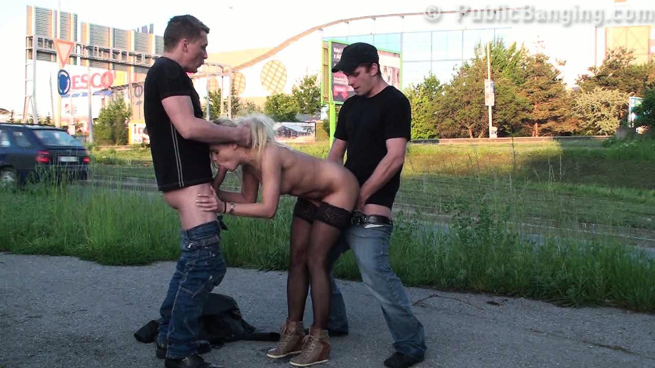 Русское порно улица этом
