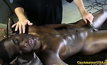 Amateur guy has gay time at massage date