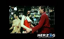 Wealthy guys banging natural hoties in retro porn
