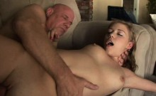Pretty Teen Girl Fucking And Blowing Dirty Old Man