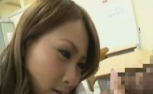 Subtitled CFNM Japanese gyaru school penis inspection