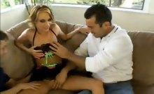 Blonde Sierra Hot Threesome Sex