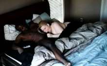 Pregnant white wife fucks with black boner