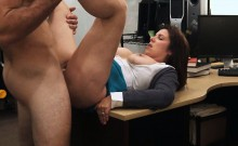 Huge boobs milf pawns her pussy for cash